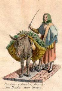 BRECOLERAS Y BRÉCOLES, BRÉCOLES FINOS BRÉCOLES. ARRE BORRICO ... Miguel Gamborino, Los gritos de Madrid, 1809-1817