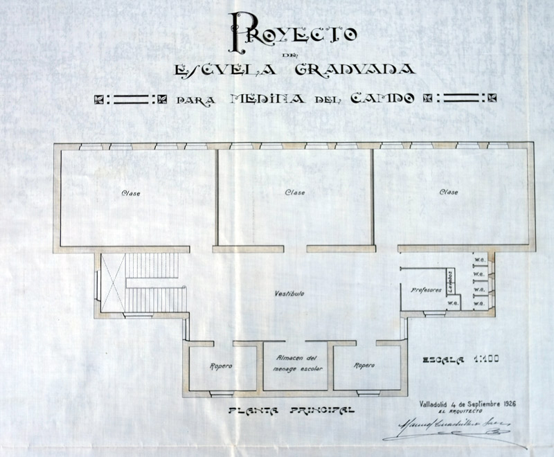 Proyecto de construcci n de una escuela graduada 1926 for Proyectos de construccion de escuelas